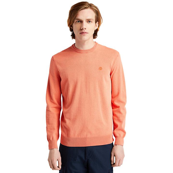 Lichtgewicht gewassen trui voor heren in oranje-