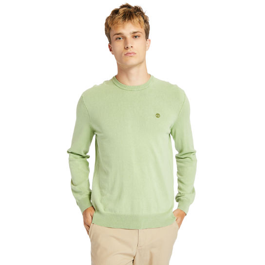 Garment-Dyed Sweatshirt for Men in Green | Timberland