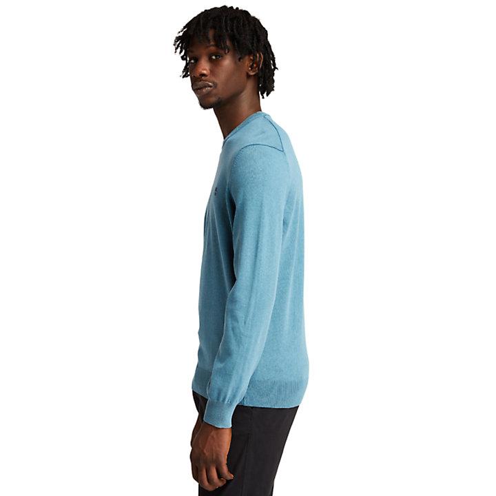 Lightweight Washed Jumper for Men in Blue-