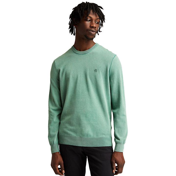 Maglione Leggero da Uomo effetto lavato in verde-