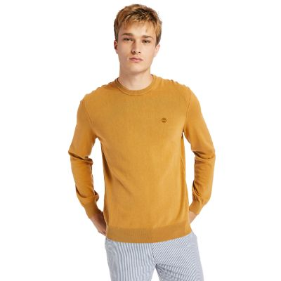Garment-Dyed+Sweatshirt+for+Men+in+Yellow