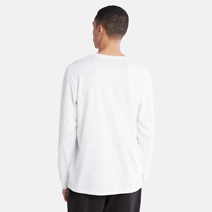 Tree Logo T-Shirt for Men in White-