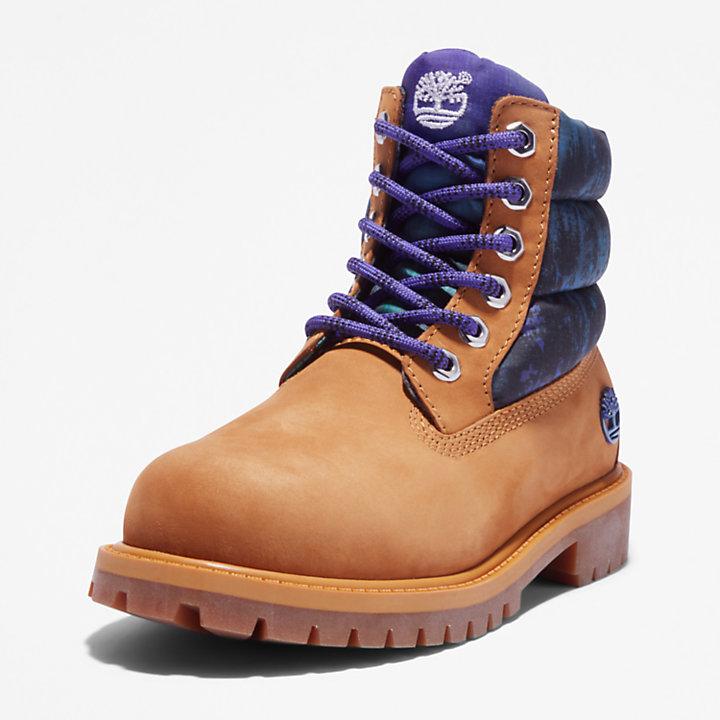 Timberland® Premium 6 Inch Quilted Boot voor juniors in geel-