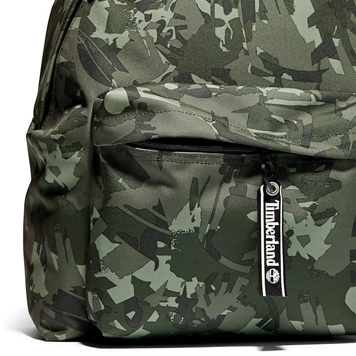 Printed Backpack in Green Camo-