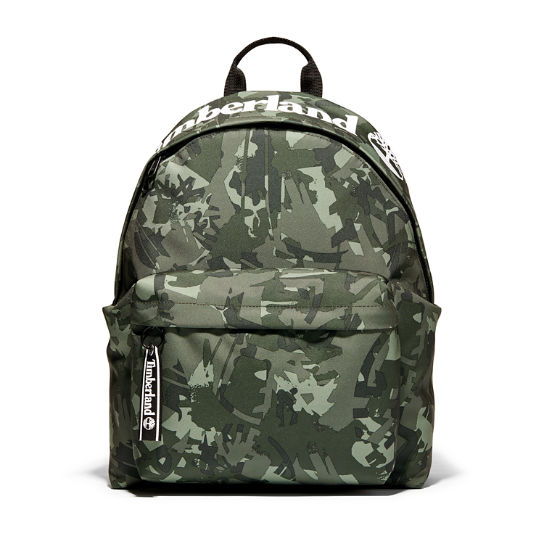 Printed Backpack in Green Camo | Timberland