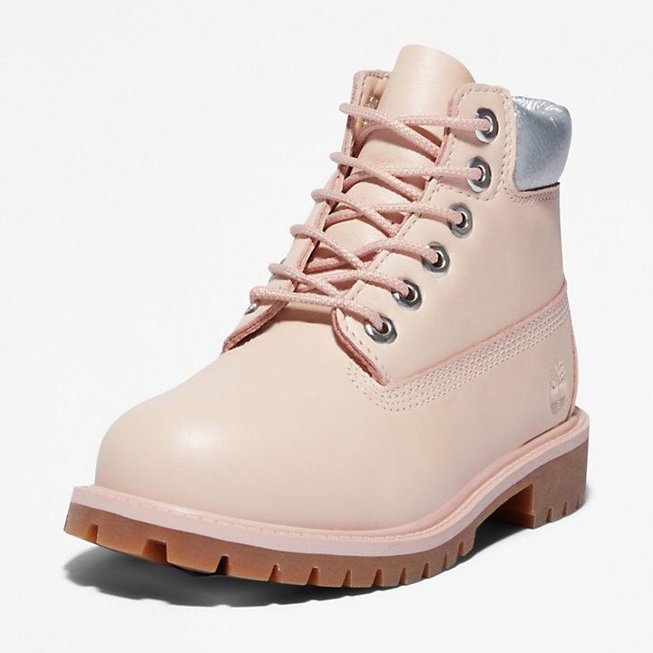 Botas 6 Inch Premium Timberland® para Niño (de 20 a 30) en rosa claro-