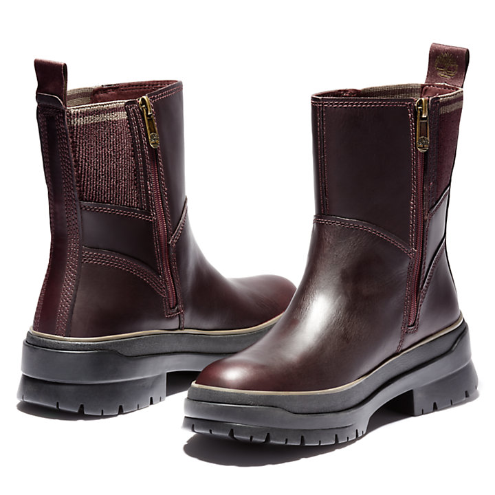 Malynn Side-zip Boot for Women in Burgundy-