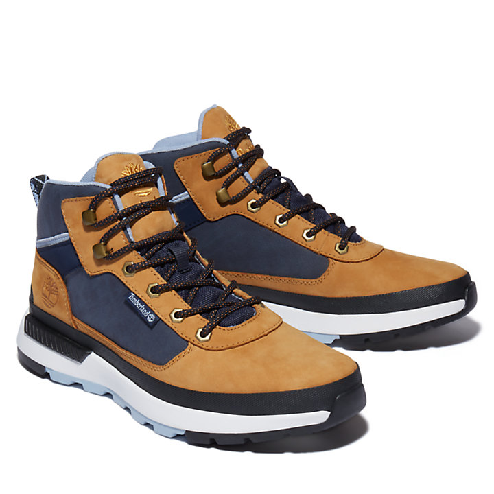 Field Trekker Chukka for Men in Yellow/Blue-