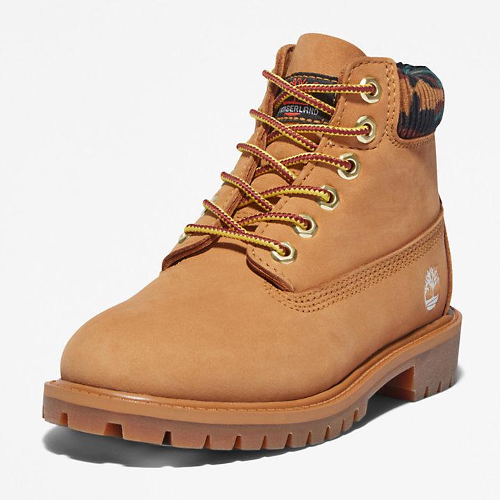Timberland® Premium 6-Inch-Stiefel für Kleinkinder in Gelb-