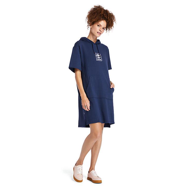 Vestito con Cappuccio da Donna in blu marino-