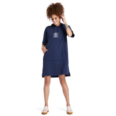 Hoodie+Dress+for+Women+in+Navy
