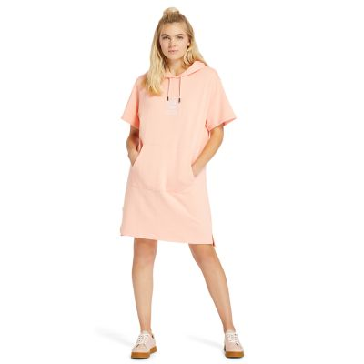 Hoodie+Dress+for+Women+in+Pink