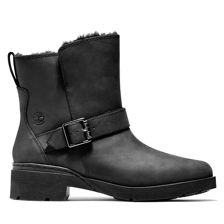 Graceyn Biker Boot for Women in Black-