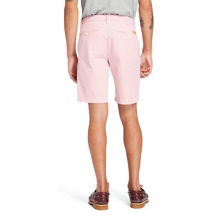 Seersucker Shorts for Men in Red-