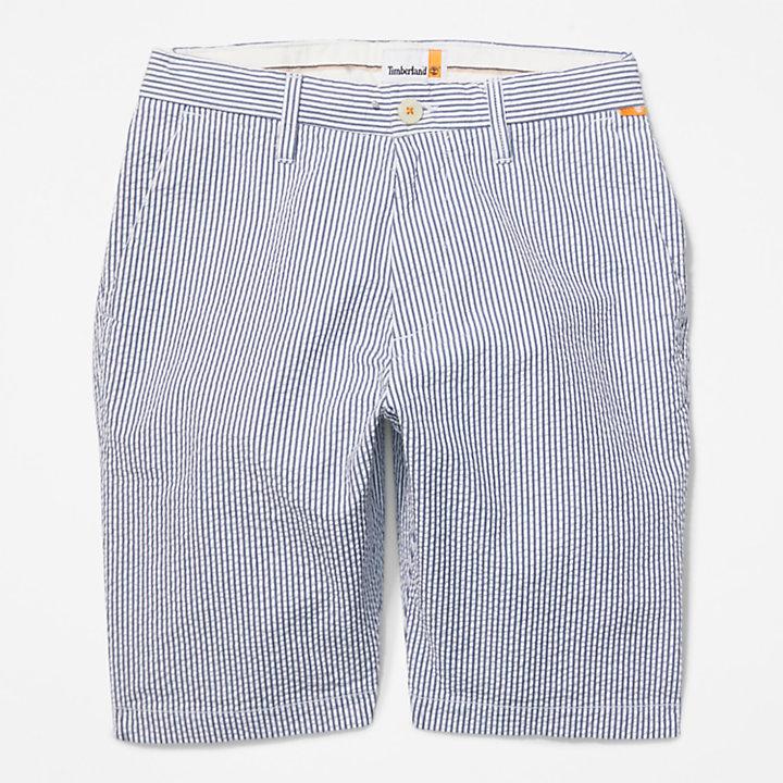 Seersucker Shorts for Men in Blue-