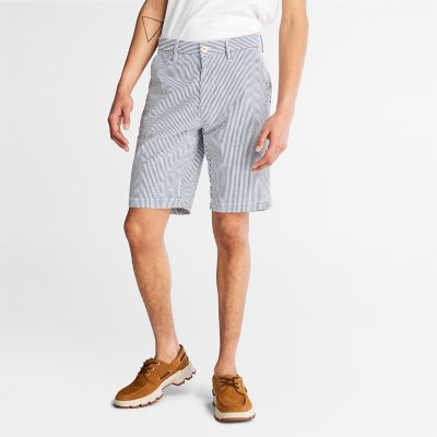 Seersucker+Shorts+for+Men+in+Blue