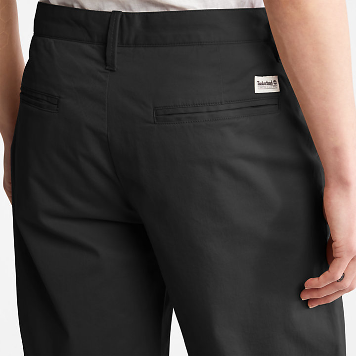 Shorts Chino da Uomo Squam Lake in colore nero-