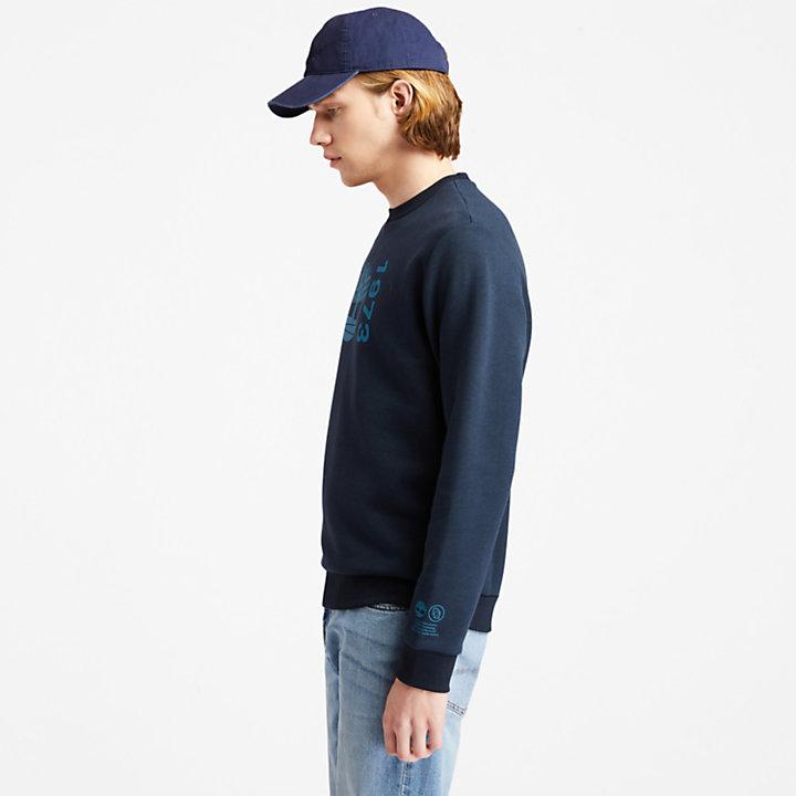 Sweat-shirt Re-Comfort EK+ pour homme en bleu marine-