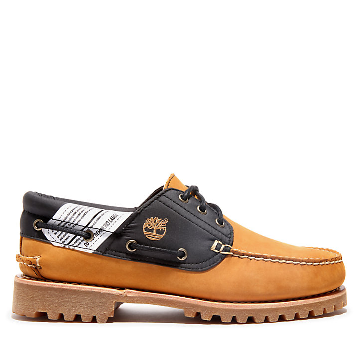 Authentics 3 Eye Boat Shoe for Men in Yellow-