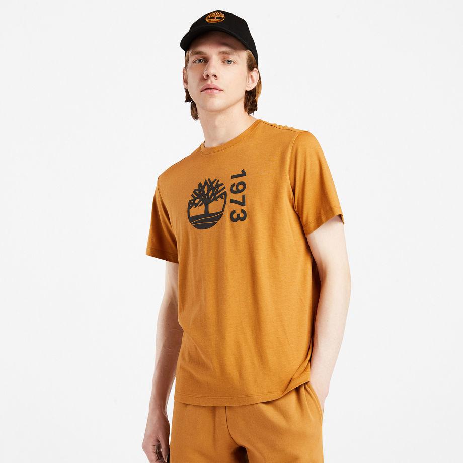 Timberland Re-comfort Ek+ T-shirt For Men In Yellow Yellow, Size XL