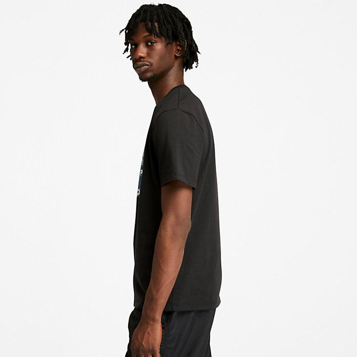 Camiseta con Estampado Gráfico Nature Needs Heroes™ para Hombre en color negro-