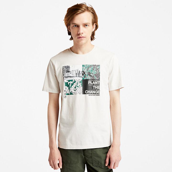 T-shirt à motif Nature Needs Heroes™ pour homme en blanc-