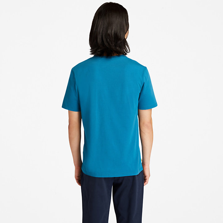 T-shirt da Uomo con Grafica Nature Needs Heroes™ in verde acqua-