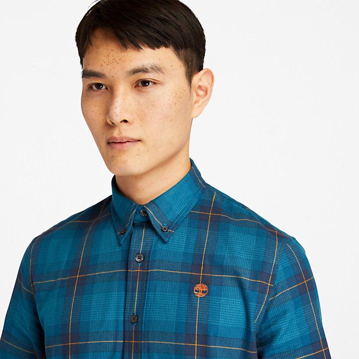Camisa de espiga Back River de hombre azul marino-