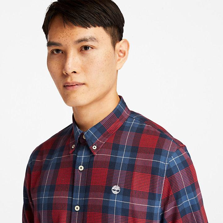 Chemise à chevrons Back River pour homme en rouge-