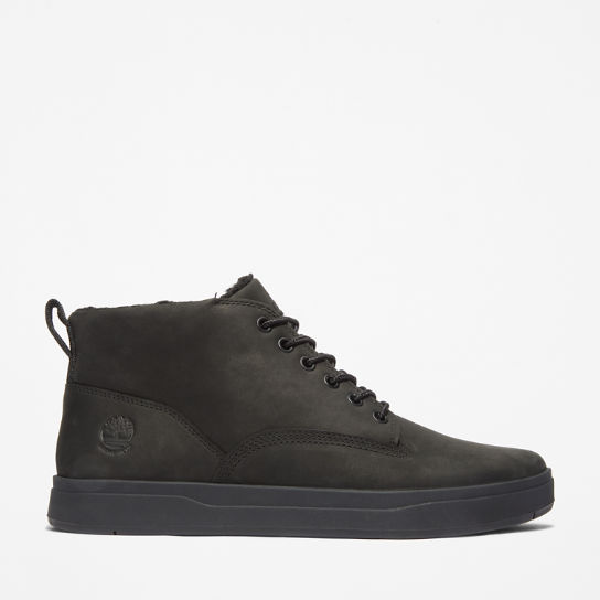 Davis Square Lined Chukka for Men in Black | Timberland
