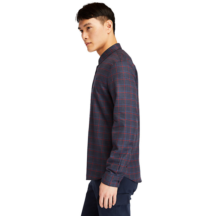 Flannel Checked Shirt for Men in Navy-