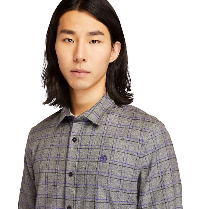 Camicia da Uomo a Quadri in Flanella in grigio-