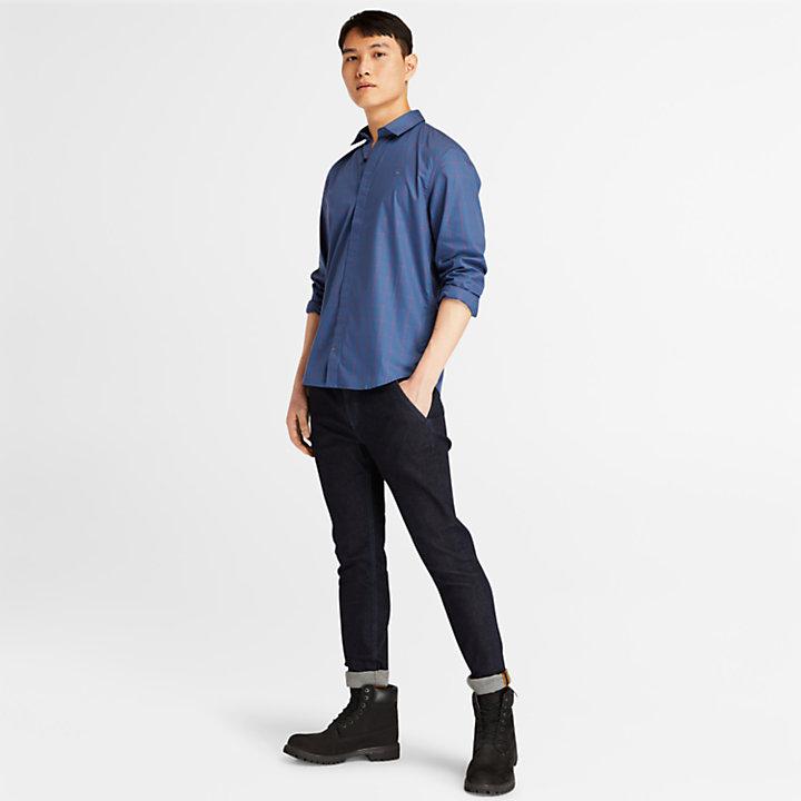 Tencel™ Check Shirt for Men in Blue-