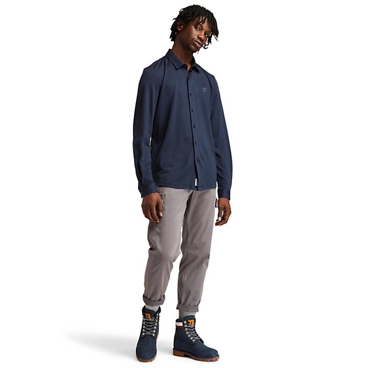 Camicia da Uomo Eco-ready in blu marino-