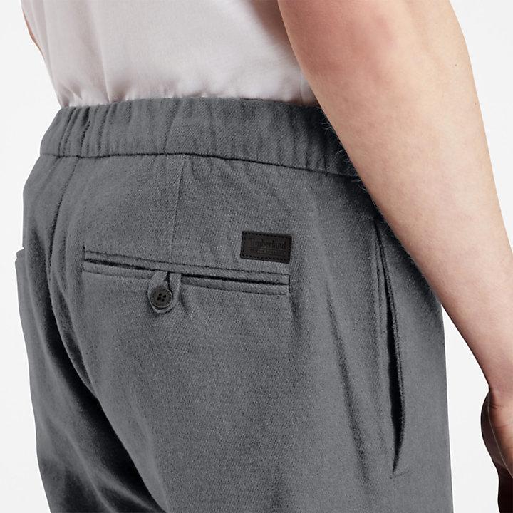 Pantaloni da Uomo in Caldo Cotone in grigio-
