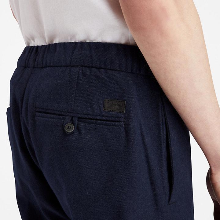 Pantaloni da Uomo in Caldo Cotone in blu marino-