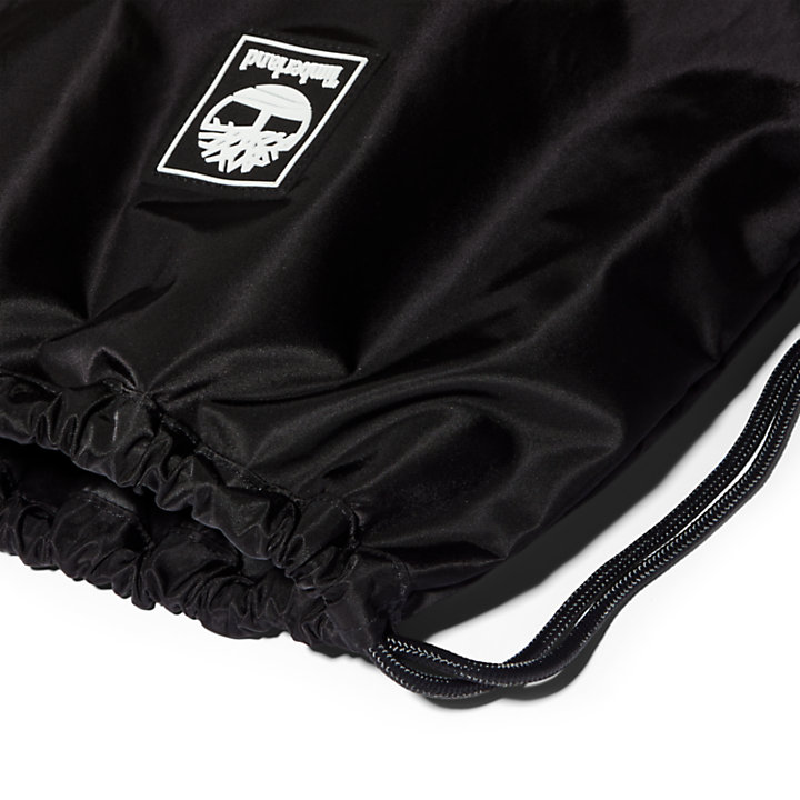 Logo Drawstring Bag in Black-