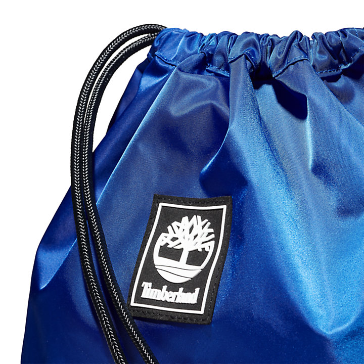 Logo Drawstring Bag in Blue-