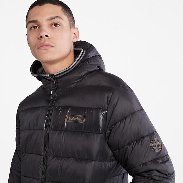 Garfield Hooded Puffer Jacket for Men in Black-