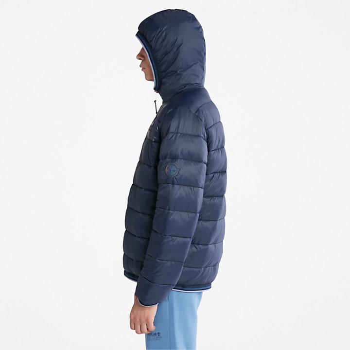 Garfield Hooded Puffer Jacket for Men in Navy-