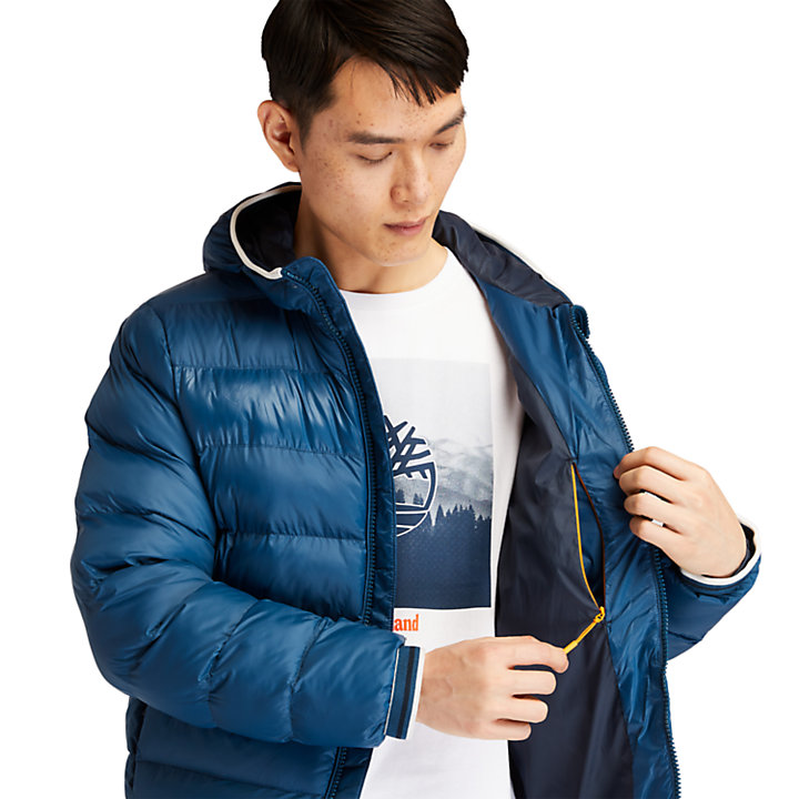 Garfield Hooded Puffer Jacket for Men in Blue-