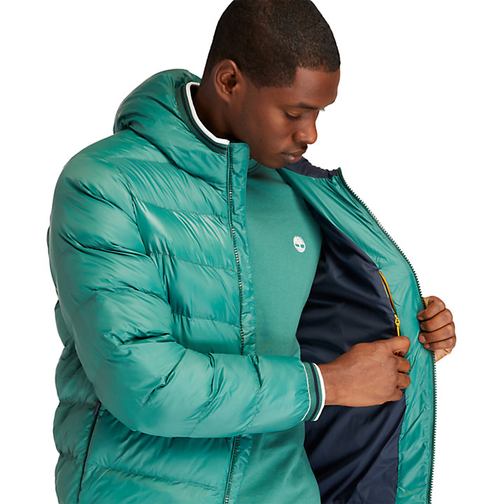 Doudoune à capuche Garfield pour homme en vert-