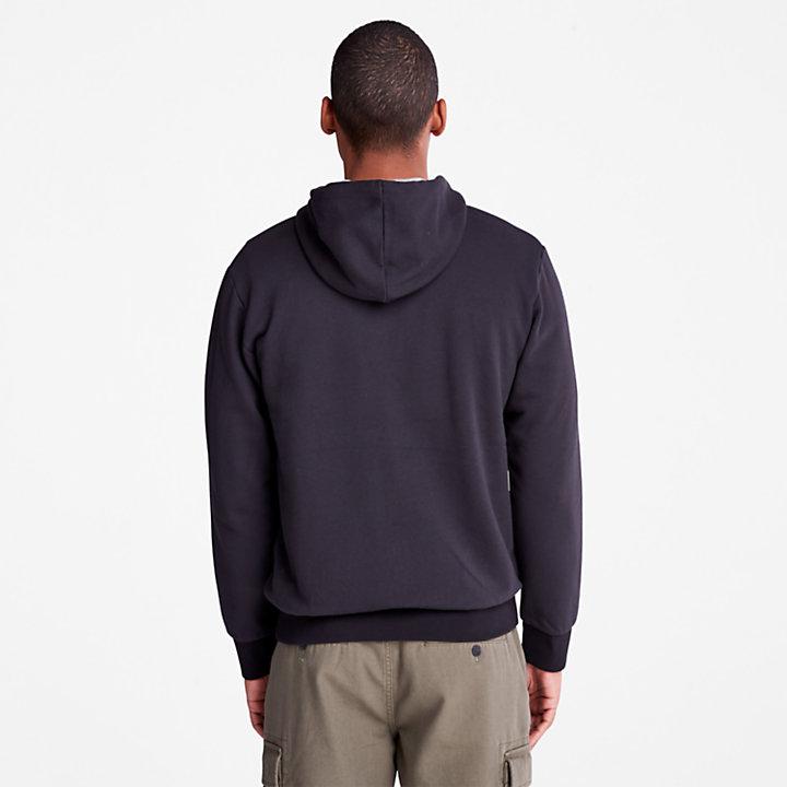 Oyster River Zip Hoodie for Men in Black-