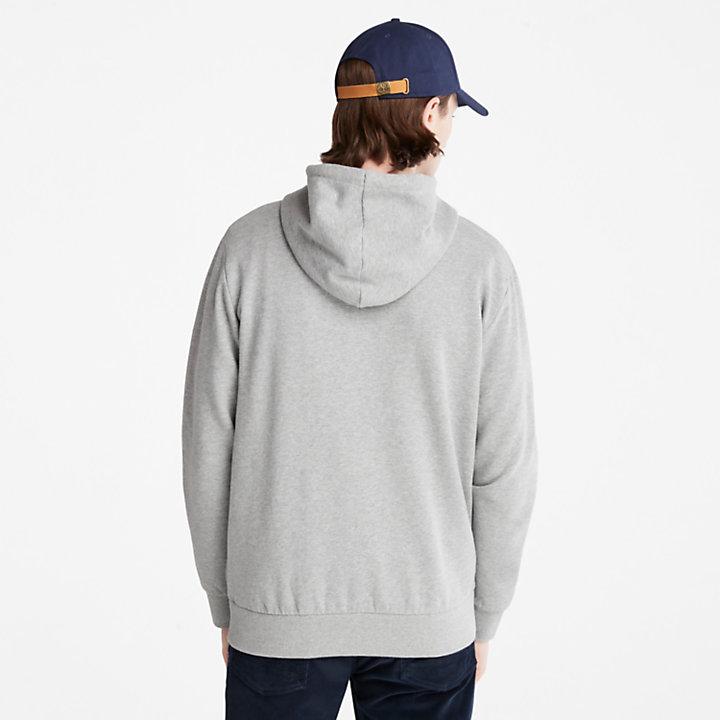 Oyster River Zip Hoodie for Men in Grey-