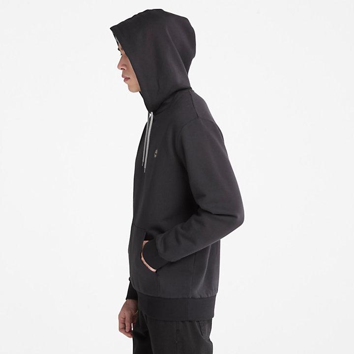 Sudadera con Capucha Oyster River para Hombre en color negro-