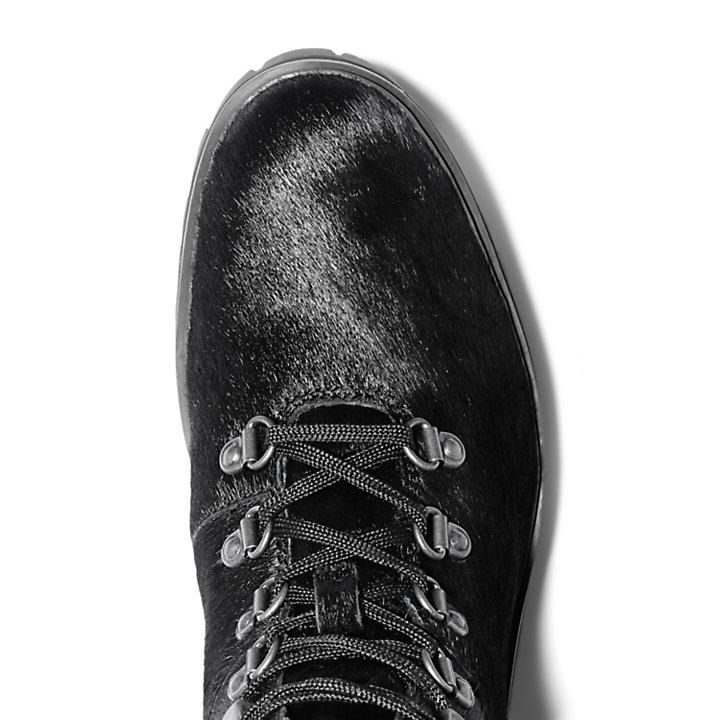 Bottine de randonnée mi-haute London Square pour femme en noir monochrome-