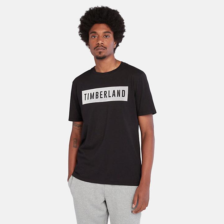 T-shirt da Uomo in Cotone Biologico in colore nero-