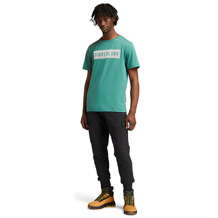 T-shirt da Uomo in Cotone Biologico in verde-