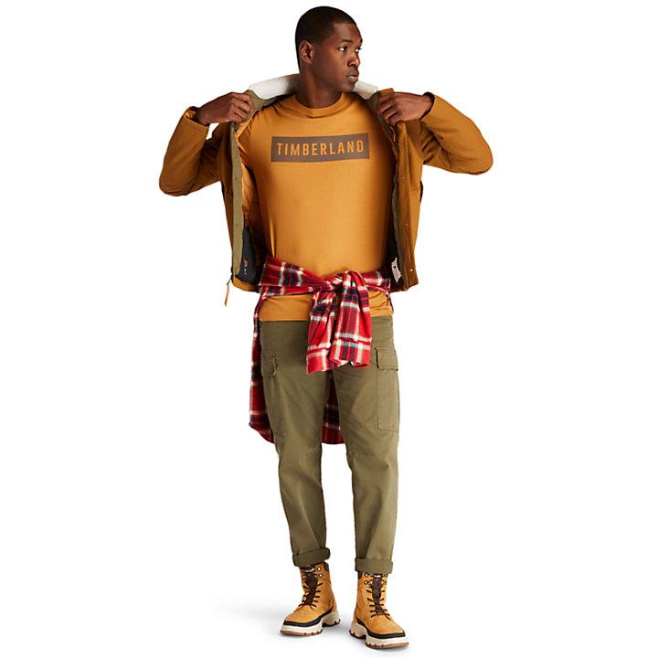 Organic Cotton T-Shirt for Men in Yellow-