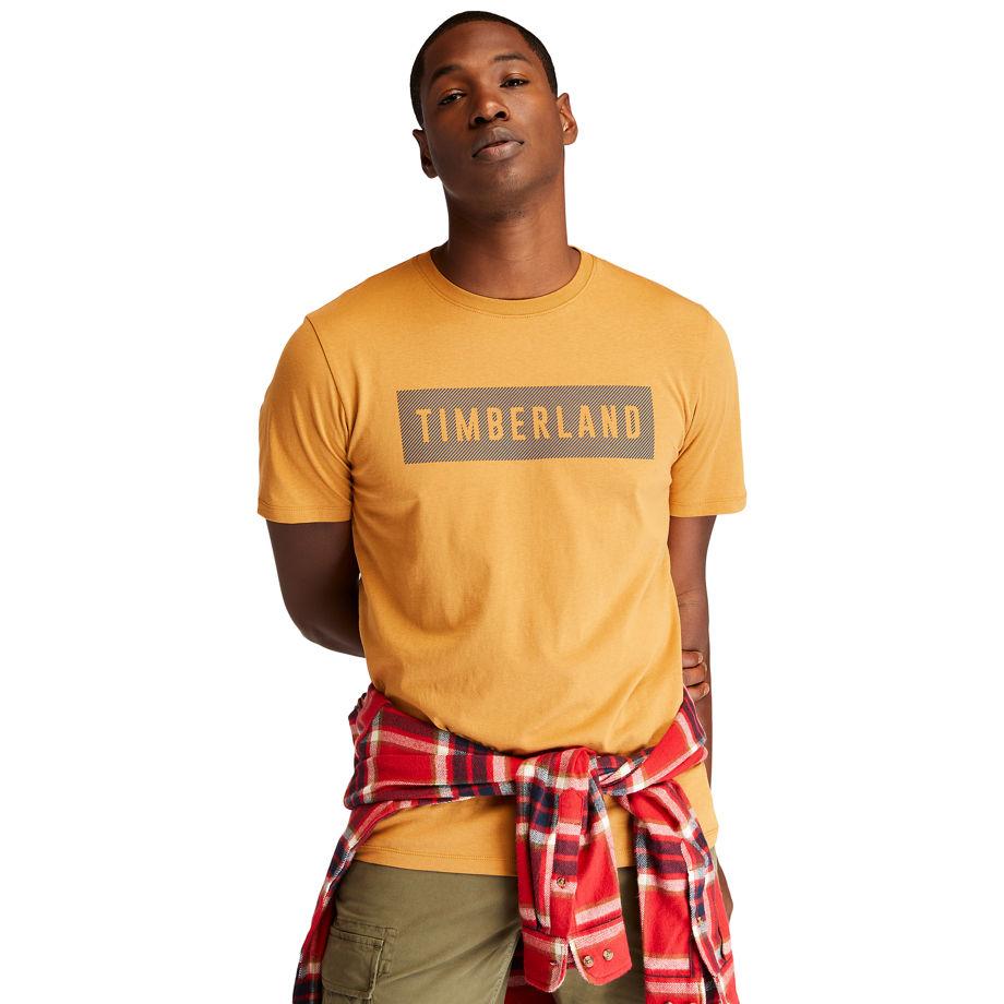 Timberland Organic Cotton T-shirt For Men In Yellow Yellow, Size XXL